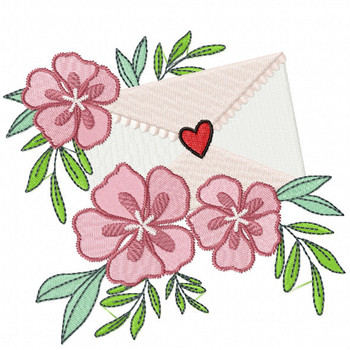 Valentine Love Letter Collection #03 - Machine Embroidery Design