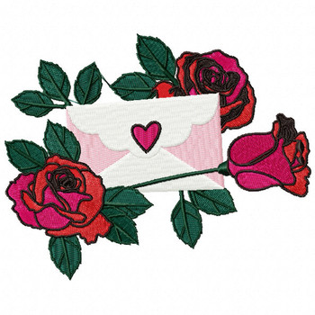Valentine Love Letter Collection #06 - Machine Embroidery Design
