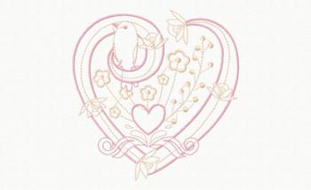 Abstract Heart Swirls #09 Machine Embroidery Design