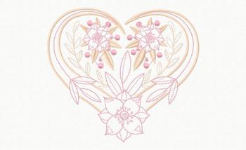 Abstract Heart Swirls #10 Machine Embroidery Design