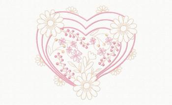 Abstract Heart Swirls #11 Machine Embroidery Design