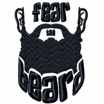 Fear The Beard - Beard Collection #02 Machine Embroidery Design