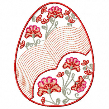 Easter Egg Collection #05 Machine Embroidery Design