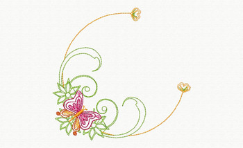 Beautiful Butterfly and Floral #10 Machine Embroidery Designs