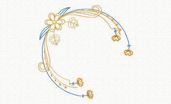 Beautiful Butterfly and Floral #11 Machine Embroidery Designs