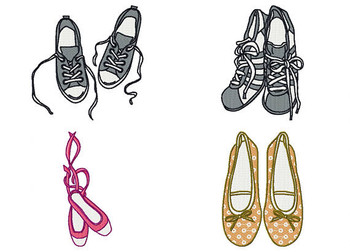 Shoe Collection Bundle #1 Machine Embroidery Designs