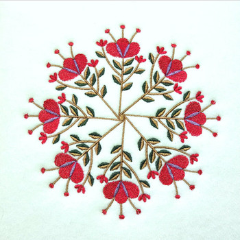 Asiatic Lily - Circle of Flowers Collection #03 Machine Embroidery Design