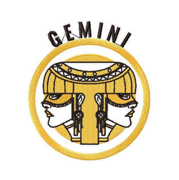 Gemini - Zodiac Collection #08 Machine Embroidery Design