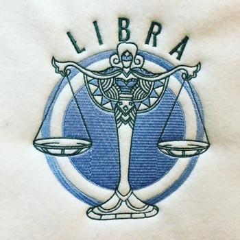 Libra - Zodiac Collection #09 Machine Embroidery Design