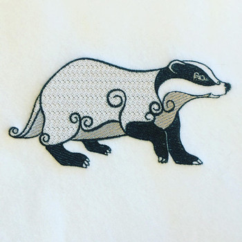 Ornamental Badger - Ornament Animal Collection #23 Machine Embroidery Design
