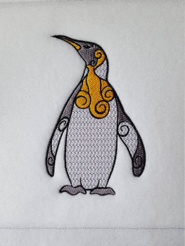 Ornamental Emperor Penguin - Ornament Animal Collection #29 Machine Embroidery Design