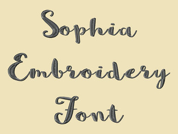 Sophia Machine Embroidery Font Now Includes BX Format