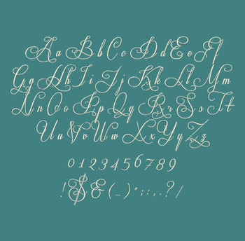 Beautiful Cursive Script - Respective Regular Machine Embroidery Font Now Includes BX Format!