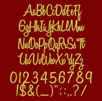 Cursive - Variane Script Machine Embroidery Font Now Includes BX Format!