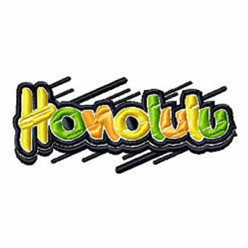 Honolulu - Geography Graffiti Collection #01 Machine Embroidery Design