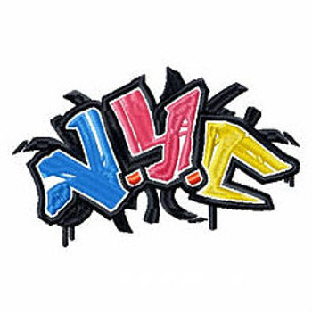 New York - Geography Graffiti Collection #06 Machine Embroidery Design