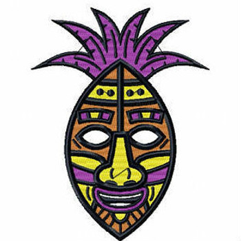 Tribal Mask - Masquerade Design Collection #09 Machine Embroidery Design