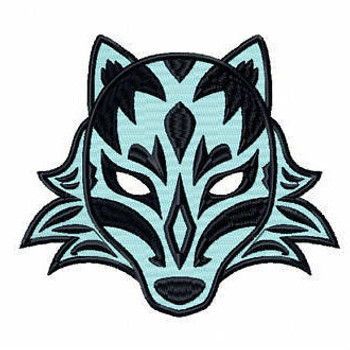 Wolf Mask - Masquerade Design Collection #12 Machine Embroidery Design