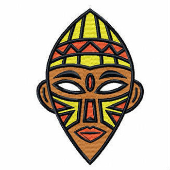 Tribal Mask - Masquerade Design Collection #17 Machine Embroidery Design