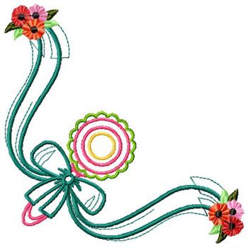 Cute Baby Napkin Corner #03 Machine Embroidery Design