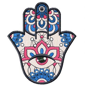 Hamsa Floral #01 Machine Embroidery Design