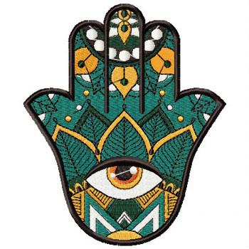 Hamsa Leaf #04 Machine Embroidery Design