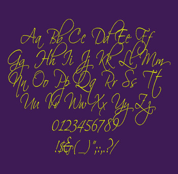 Old Script Font - Scriptin  Machine Embroidery Font Now Includes BX Format!