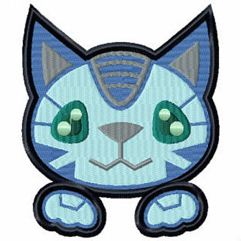 Cat Cyborg - Robot Collection #10 Stitched and Applique Machine Embroidery Design