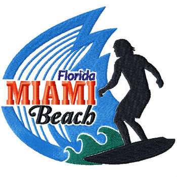 Miami Beach Florida - City Collection #07 Machine Embroidery Design