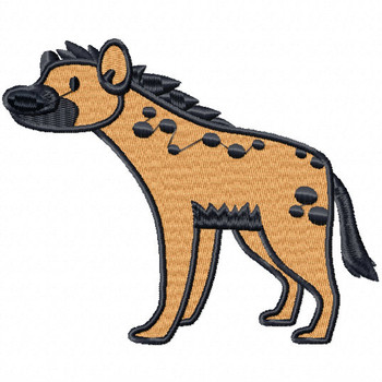 Spotted Hyena - Safari Animals #05 Machine Embroidery Design
