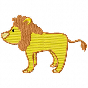 Lion - Safari Animals #07 Machine Embroidery Design