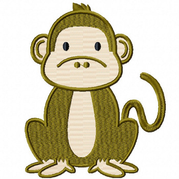 Monkey - Safari Animals #08 Machine Embroidery Design