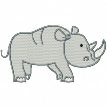 Rhinoceros - Safari Animals #09 Machine Embroidery Design
