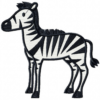 Zebra - Safari Animals #12 Machine Embroidery Design
