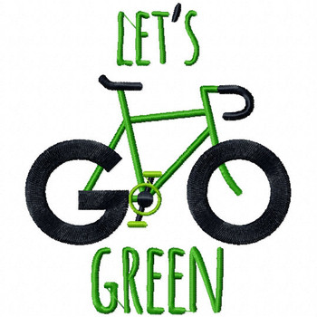 Let's Go Green - Go Green Collection #02 Machine Embroidery Design