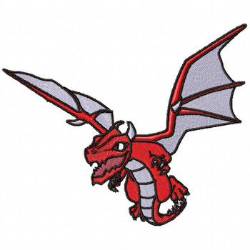 Red Dragon - Dragon Cartoon #04 Machine Embroidery Design
