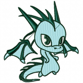 Blue Dragon - Dragon Cartoon #06 Machine Embroidery Design