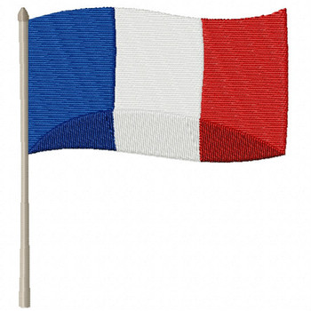 French Flag - French Cafe #07 Machine Embroidery Design