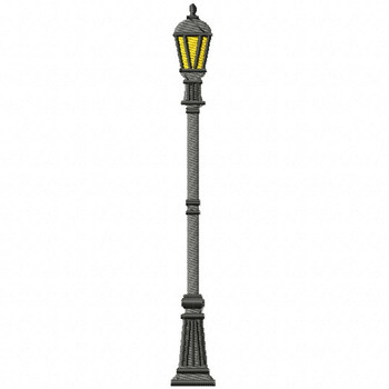 French Street Light- French Cafe #12 Machine Embroidery Design