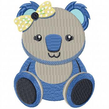 Stuffed Koala Bear - Stuffed Toy #06 Machine Embroidery Design