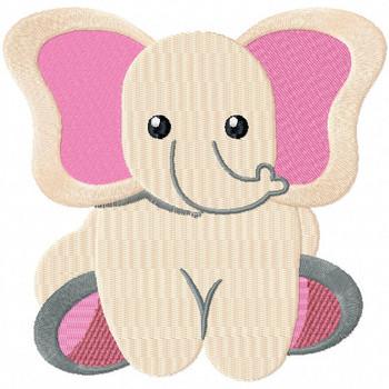 Stuffed Elephant - Stuffed Toy #09 Machine Embroidery Design