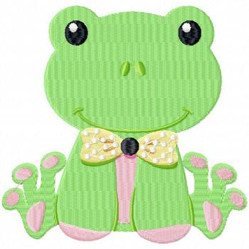 Stuffed Frog - Stuffed Toy #12 Machine Embroidery Design