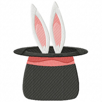 Carnival Rabbit Inside The Hat - Carnival #08 Machine Embroidery Design