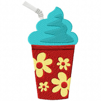 Carnival Snow Cone - Carnival #10 Machine Embroidery Design
