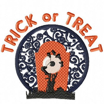 Trick or Treat Skull - Happy Halloween #04 Machine Embroidery Design