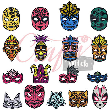 Masquerade Collection 17 Machine Embroidery Designs