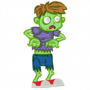 Halloween Zombie - Halloween #12 Machine Embroidery Design