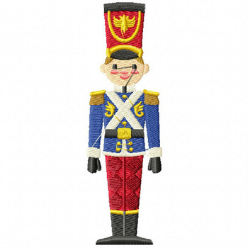 Christmas Toy Soldier #05 Machine Embroidery Design