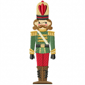 Christmas Toy Soldier #07 Machine Embroidery Design