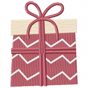 Chevron Gift - Christmas Gift #08 Machine Embroidery Design